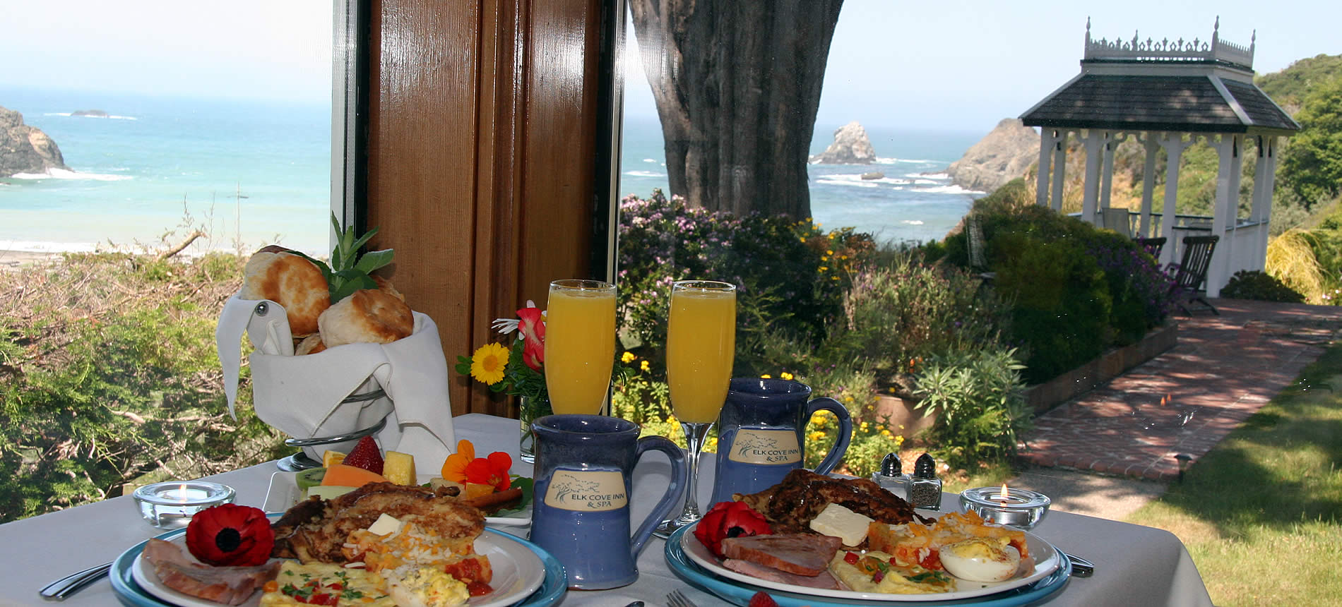 elk cove inn breakfast with ocean view