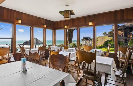 Mendocino Coast Lodging Elk Cove Inn Dining Room