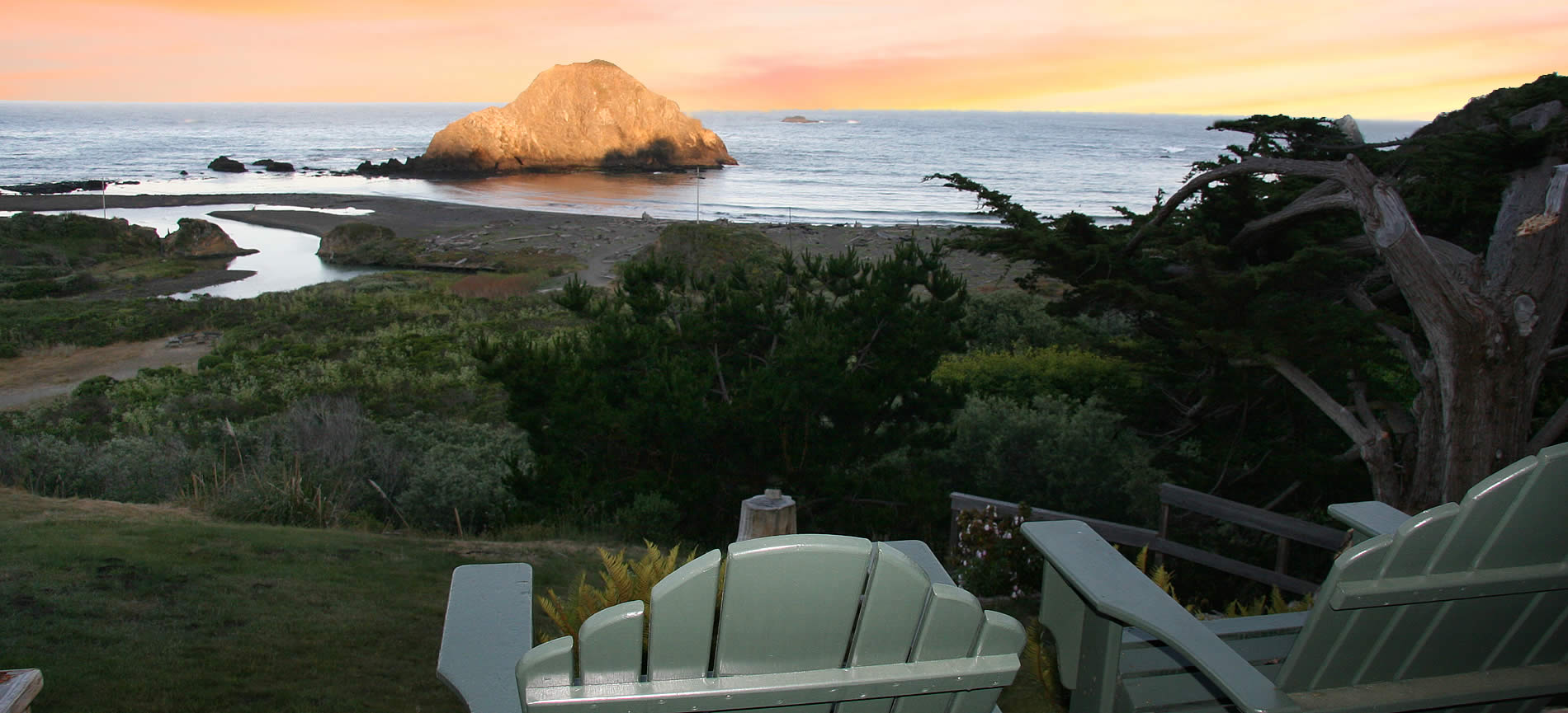 mendocino coast lodging at elk cove inn bed and breakfast colorful sunrise