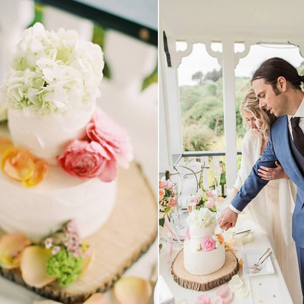 northern california coast weddings romantic cake