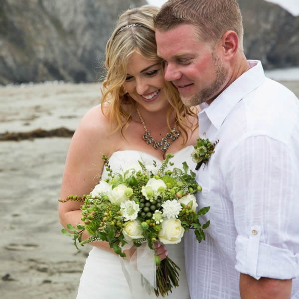 northern california coast weddings romantic beach ceremony with flowers