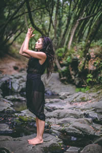 Yoga teacher at Elk Cove Inn