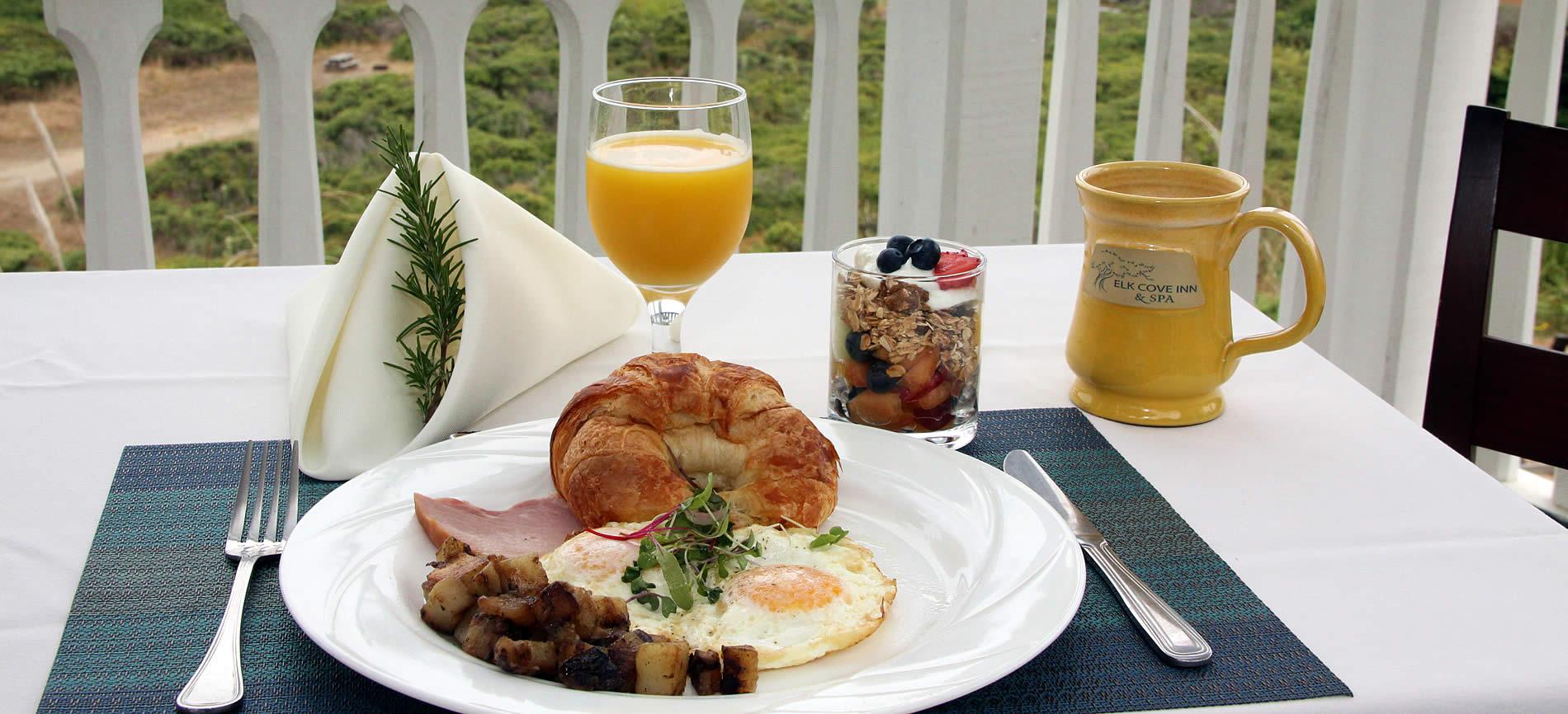 breakfast by the ocean at elk cove inn